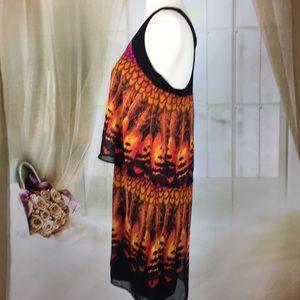 Tiana B. Dresses - Tiana B. Abstract Layered Dress